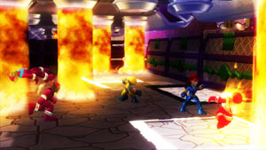 Jean Grey with Wolverine in Marvel Super Hero Squad: The Infinity Gauntlet