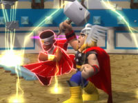 Falcon and Thor together in Marvel Super Hero Squad: The Infinity Gauntlet