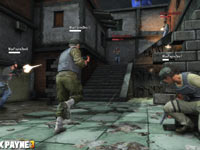 A multiplayer game screen from Max Payne 3