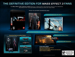 Mass Effect 3 N7 Collectors Edition box contents