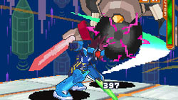 Mega Man in action in 'Mega Man Star Force: Red Joker'