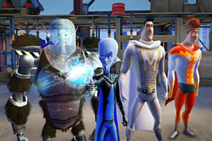 Megamind and his team in Megamind: the Blue Defender