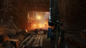 Shooting and quickly reloading a shotgun in combat in Metro: Last Light