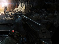 Keeping an eye on ammo and available air during combat in Metro: Last Light