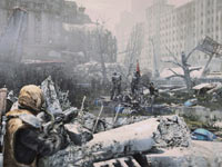 Patrolling the ruined Moscow during winter in Metro: Last Light
