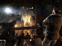 A view of survivor's underground living area in Metro: Last Light