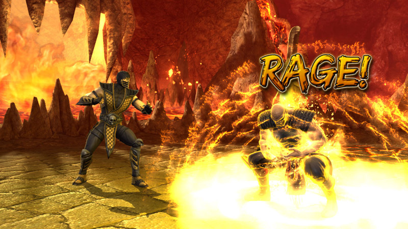 Rage Mode in action in Mortal Kombat vs. DC Universe for Xbox 360