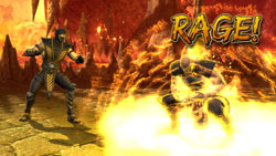 Rage Mode in action in Mortal Kombat vs. DC Universe for Xbox 360