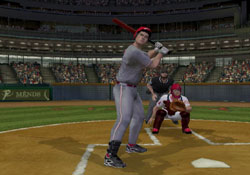 Batting as a leftie in Major League Baseball 2K12 for PSP