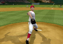 Pitching as a leftie in Major League Baseball 2K12 for PSP