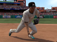 Bare-handing a ball in the infield in MLB 12 The Show