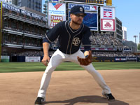 Setting up for a play in the infield in MLB 12 The Show