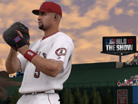 Albert Pujols standing ready on defense in MLB 12 The Show