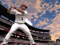 Albert Pujols standing ready at the plate in MLB 12 The Show