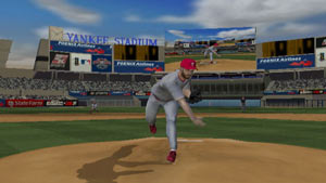 Delivering a pitch from the mound in MLB 2K11