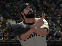 San Francisco Giant's closer Brian Wilson in MLB 2K11