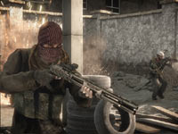 An enemy combatant wielding a shotgun in Medal of Honor