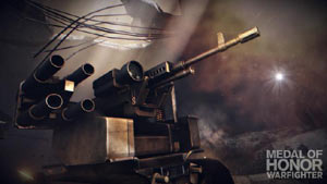 A mobile firing turret in Medal of Honor: Warfighter