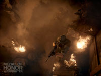 Ground forces on patrol seen from above in Medal of Honor: Warfighter