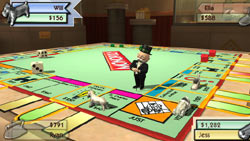 Classic Monopoly board play in 'Monopoly Here and Now: the World Edition' for Wii