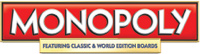 'Monopoly Here and Now: the World Edition' for Wii game logo