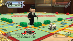 Classic Monopoly board play in 'Monopoly Here and Now: the World Edition' for PS3