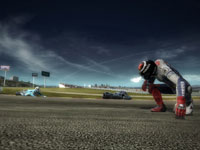 Racers spralled on the track after a crash in MotoGP 09/10