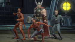 A four-hero team example from 'Marvel Ultimate Alliance 2'