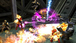 Fusion powers in action in Marvel Ultimate Alliance 2 for PSP