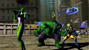 She-Hulk, Hulk and Wolverine ready for action as a team in Marvel vs. Capcom 3: Fate of Two Worlds