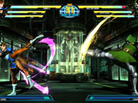Chun-Li and Doctor Doom matching kick for kick in Marvel vs. Capcom 3: Fate of Two Worlds
