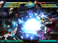 Amaterasu unleashing a special ability on Thor in Marvel vs. Capcom 3: Fate of Two Worlds