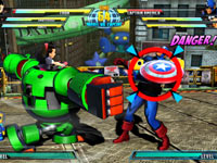 Tron Bonne smacking Captain America in Marvel vs. Capcom 3: Fate of Two Worlds