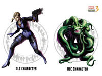 DLC characters Jill Valentine and Shuma Gorath included with the Marvel vs. Capcom 3: Fate of Two Worlds Special Edition