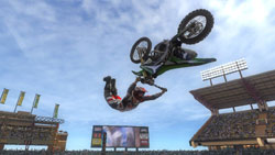 Going bizarrely freestyle in MX vs. ATV: Reflex