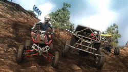 Different vehicle classes racing against eachother in MX vs. ATV: Reflex