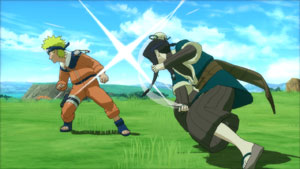 Naruto getting hit by an opponent in Naruto Shippuden: Ultimate Ninja Storm Generations