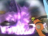 Naruto charging a specter conquered up by an enemy in Naruto Shippuden: Ultimate Ninja Storm Generations