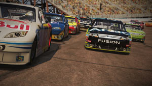 Slingshoting out of the pack in NASCAR The Game 2011