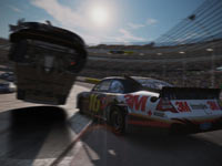 A dramatic crash in NASCAR The Game 2011