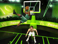 Paul Pierce unleashing a backwards jam in NBA JAM
