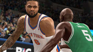 Tyson Chandler posting up Kevin Garnett in NBA Live 13