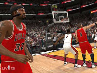 Rip Hamilton moving away without the ball in NBA Live 13