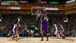 Kobe knocking down free throws against Phoenix in NBA 2K10