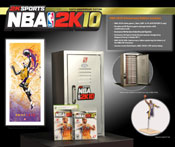 NBA 2K Tenth Anniversary Edition box contents for PS3