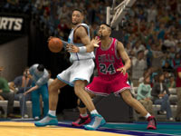 Backing Bill Cartwright in at the low post in NBA 2K13