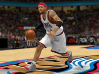 Allen Iverson driving to the rim in NBA 2K13