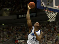 Shaquille O'Neal scoring with a sky hook during his years with the Magic in NBA 2K13