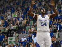 Kentucky player taking heat from the crowd at home in NCAA Basketball 10