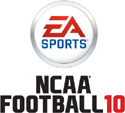 'NCAA Football 10' game logo